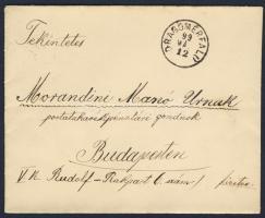1899 Feketeszámú 1kr pár + 3kr levélen DRAGOMÉRFALU - BUDAPEST