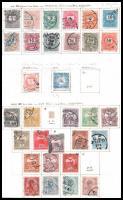 Krajcáros és Turul, Portó 1903-1934 + Hivatalos bélyegek, gyűjtemény maradvány 9 albumlapon