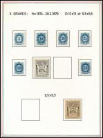 Távírda tétel, főleg réznyomású bélyegek több példányban, változatokkal (190.000)