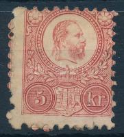1871 Réznyomat 5kr erős elfogazással (*27.500)