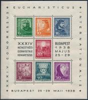 1938 Eucharisztikus blokk (10.000) (kis saroktörés / corner fold)