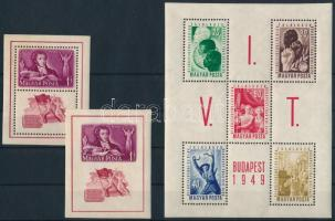 1949 Puskin blokkpár + VIT blokk (13.000)