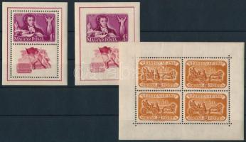1947 Bélyegnap kisív + 1949 Puskin blokkpár (14.000)