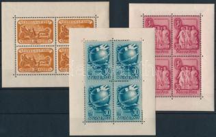 1947 Bélyegnap kisív + 1948 Szakszervezet és Bélyegnap kisívek (21.000)