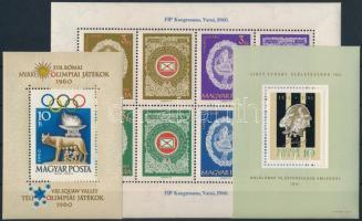 1960 Római olimpia blokk, FIP blokk + 1961 Liszt blokk (10.500)