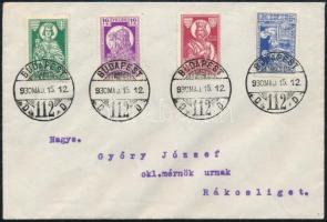 1930 május 15. Szent István sor futott FDC-n BUDAPEST - RÁKOSLIGET gyönyörű kiállítási darab RR!