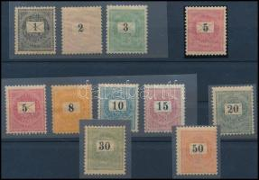 1899 Krajcáros tétel, többnyire postatiszta, kevés falcossal, jó tétel, magas katalógusár!