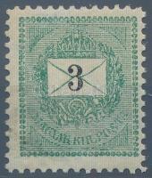 1889 3kr electrotyp 11 1/2 fogazással (30.000)