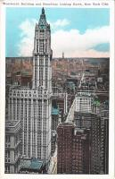 1936 New York City, Woolworth Building and Broadway looking North (EK)