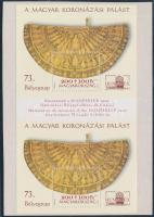 2000 Bélyegnap (73.) Hunphilex, Magyar koronázási palást blokkpár