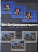 Magyar gyűjtemény 1987-1996, a sorok általában 1-2, a blokkok 1-4 példányban. Gondosan kezelt szép anyag Importa műanyag berakó lapokon, gyűrűs borítóban. Magas katalógus érték!!