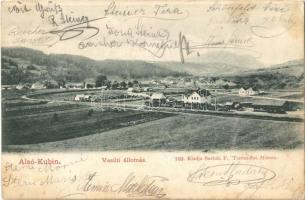 1903 Alsókubin, Dolny Kubín; vasútállomás, vonat. Sochán P. 153. / railway station, train (fl)