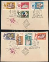 1958 Brüsszeli világkiállítás vágott sor 2 FDC-n (4.000)