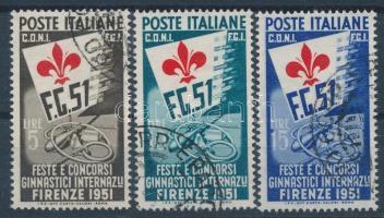 Olaszország 1951 Nemzetközi tornaverseny Firenzében Mi 834-836 (Mi EUR 900,-)