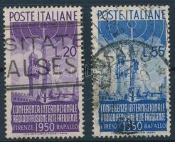 Olaszország 1950 Firenzei rádiókonferencia sor Mi 796-797 (Mi EUR 182,-)
