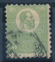 1871 Kőnyomat 3kr jó minőségű bélyeg (140.000) (alul rövid fogak / short perfs. below)