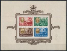 1947 Roosevelt vágott postai blokk (55.000) (jó minőségű de 2 helyen elvékonyodás / good quality block with thin paper)