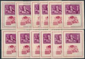 1949 6 Puskin blokkpár (36.000)