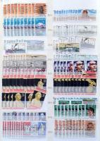 USA előrendező 1870-1994 több ezer bélyeg 4 db 30 lapos A4-es berakóban (nagy kartondobozban)