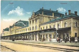 1915 Arad, pályaudvar, vasútállomás / railway station (EK)