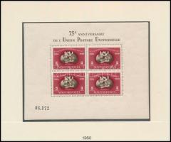 1950 UPU fogazott blokk szép állapotban (140.000)
