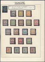 1900 Turul sor 19 értéke (lilásvörös és sárgásolaj 6f nélkül) szép állapotban (214.600)