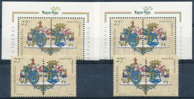 1997 Megyék címerei 4 db középen is fogazott bélyeg