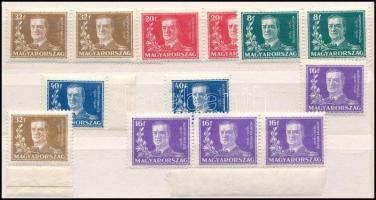 1930 Kormányzói arcképsor 2 teljes sor + 2 x 16f és 32f (16.000)