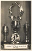 1923-1935 Temesvár, Timisoara; Gloria Dalegylet 12 éves múltja, kupák / 12 year anniversary of the Gloria Choir, cup trophies. photo