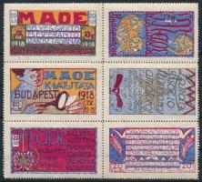 1918 MAOE emlékív (az ívszélek hiányoznak, betapadás, gumihiba, törés / missing margins, gum disturbances, folded)