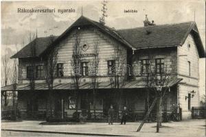 1911 Budapest XVII. Rákoshegy, Rákoskeresztúri nyaraló indóház, vasútállomás (r)