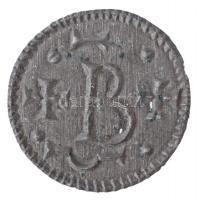 1172-1196. Denár Ag III. Béla (a verőtő két helyen átütötte a lapkát) (0,16g) T:1- patina RR! Hungary 1172-1196. Denar Ag Béla III (the die pierced the planchet twice) (0,16g) C:AU patina Very rare! Unger I.: 96. variáns