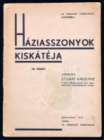 Háziasszonyok kiskátéja IV. füzet. Szerk.: Stumpf Károlyné. Bp., 1941, Országos Iparegyesület. Kiadói papírkötés.