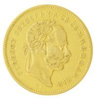 1871KB 4Ft/10Fr Au Ferenc József (3,18g/0.900) T:2 kis ph. Hungary 1871KB 4 Forint/10 Francs Au Franz Joseph (3,18g/0.900) C:XF small edge error  Adamo M22
