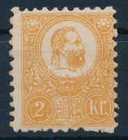 1871 Kőnyomat 2kr II. tipus jó minőségű bélyeg eredeti gumival, falcos ( 110.000)