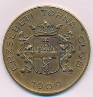 ~1920-1930. Erzsébeti Torna Club 1909 / II Br emlékérem HAWEL BP gyártói jelzéssel (48mm) T:2