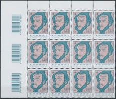 2016 Gróf Széchenyi István bélyeg előfizetői ajándék vonalkódos 12-es tömb (48.000+++)