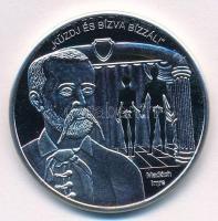 DN Nemzetünk Nagyjai - Küzdj és bízva bízzál - Madách Imre / Isten áldd meg a magyart! ezüstözött rézötvözet emlékérem tanúsítvánnyal (35mm) T:PP