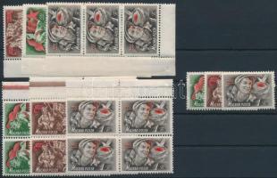 1952 8 db Május 1. sor, közte összefüggések (10.400)