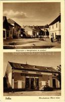 Dolha, Dovhe; Községháza, Posta, utca, automobil, Kirschenbaum Móric üzlete és saját kiadása / town hall, post office, street view, automobile, publishers shop