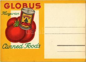 Globus konzervek reklámlapja. Manfred Weiss, Budapest / Hungarian canned foods advertisement, tomato can