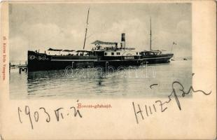 1903 Baross oldalkerekes személyszállító gőzhajó / Hungarian side wheeler steamship