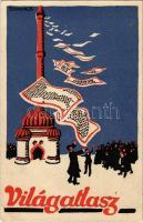 Világatlasz reklám.Hátoldalon megrendelőlap / Hungarian publishing house advertisement s: Szekeres B. (EK)