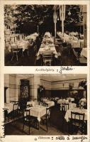 Budapest I. Havas József vendéglője A szederfához, kerthelyiség, étterem belső. Kiadja Klein Ernő