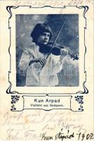 1902 Kún Árpád fiatal hegedűművész. Budapest / Hungarian young boy wonder violinist (fl)