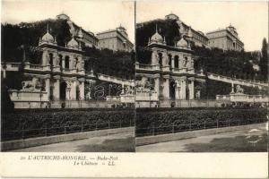 Budapest I. Királyi vár. Francia kiadású sztereólap / Le Chateau. French edition stereo postcard