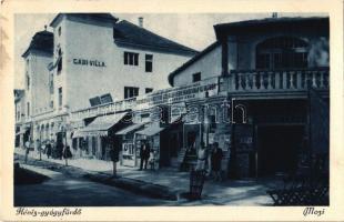 Hévíz-gyógyfürdő, Mozi, Gabi Villa, gyógyszertár, mozi (EK)