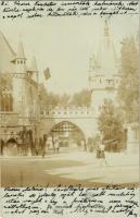 1901 Budapest XIV. Történelmi főcsoport kapuja, Vajdahunyad vára bejárati kapu. photo