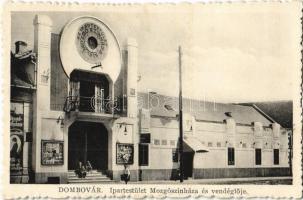Dombóvár, Ipartestület mozgószínháza és vendéglője, étterem, mozi. László Vilma kiadása