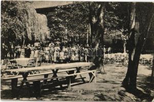 1910 Budapest III. Rómaifürdő, Római fürdő; vendéglő kerthelyisége (Rb)